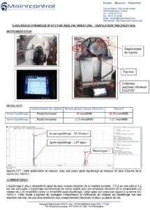 Equilibrage sur site d'un ventilateur