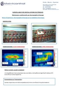 Etude de cas Thermographie Avant-Après changement disjoncteur INDUSTRIE